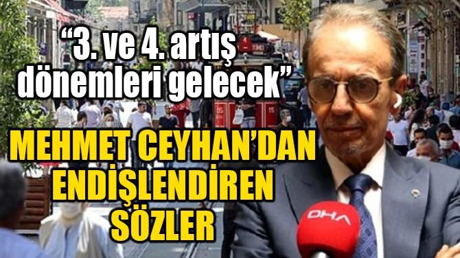 MEHMET CEYHAN'DAN  ENDİŞELENDİREN SÖZLER!