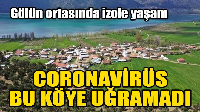 CORONAVİRÜS BU KÖYE UĞRAMADI!