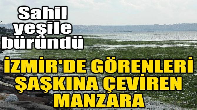 İZMİR'DE GÖRENLERİ ŞAŞKINA ÇEVİREN MANZARA