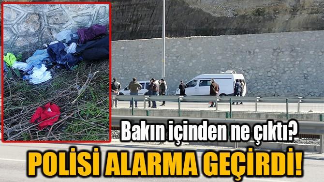 POLİSİ ALARMA GEÇİRDİ!