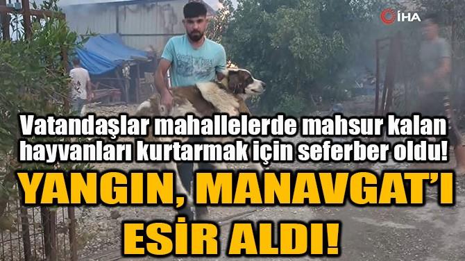 YANGIN, MANAVGAT'I ESİR ALDI!