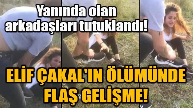 ELİF ÇAKAL'IN ÖLÜMÜNDE FLAŞ GELİŞME!