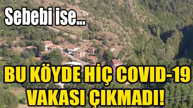 BU KÖYDE HİÇ COVID-19 VAKASI ÇIKMADI! SEBEBİ İSE...