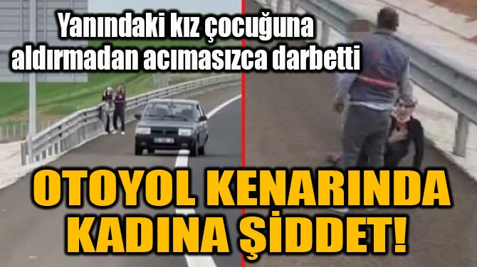 OTOYOL KENARINDA KADINA ŞİDDET!