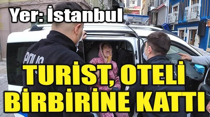 İSTANBUL'DA TURİST OTELİ BİRBİRİNE KATTI