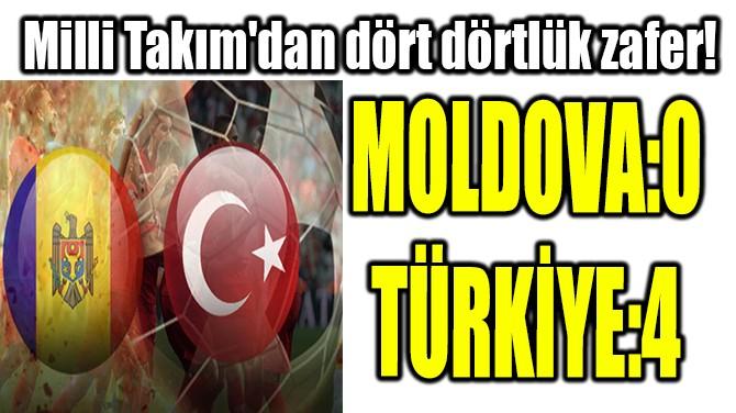 MİLLİ TAKIM'DAN DÖRT DÖRTLÜK ZAFER!