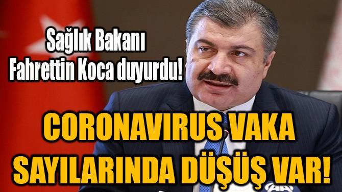 CORONAVIRUS VAKA  SAYILARINDA DÜŞÜŞ VAR!