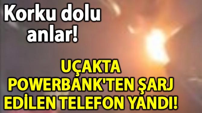 UÇAKTA BÜYÜK PANİK! CEP TELEFONU PATLADI!..