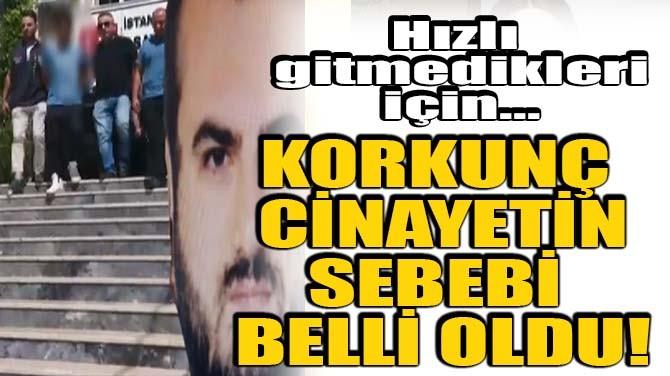 KORKUNÇ CİNAYETİN NEDENİ BELLİ OLDU!