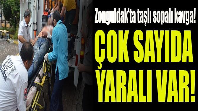 ZONGULDAK'TA TAŞLI SOPALI KAVGA!