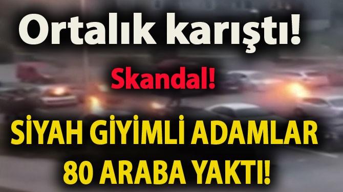 """MOLOTOF KOKTEYLİNİ ARABALARA DOĞRU ATTI"""