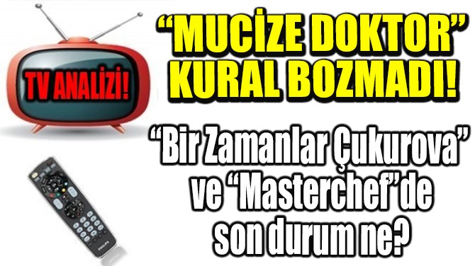 "RATINGLER BELLİ OLDU! ""MUCİZE DOKTOR"" KURAL BOZMADI!"