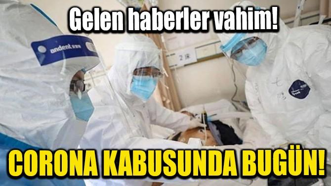 CORONA KABUSUNDA BUGÜN! GELEN HABERLER VAHİM!