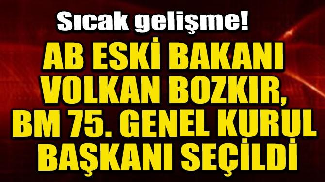 AB ESKİ BAKANI VOLKAN BOZKIR, BM 75. GENEL KURUL BAŞKANI SEÇİLDİ