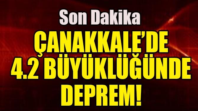 ÇANAKKALE'DE 4.2 BÜYÜKLÜĞÜNDE DEPREM!
