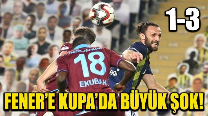 FENER'E KUPA'DA BÜYÜK ŞOK!