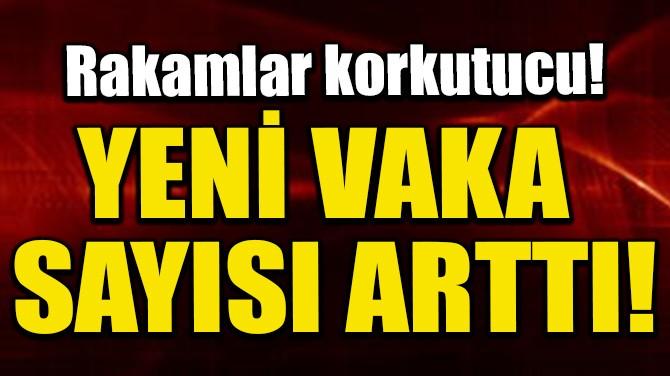 YENİ VAKA SAYISI ARTTI!