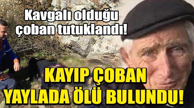 KAYIP ÇOBAN YAYLADA ÖLÜ BULUNDU!