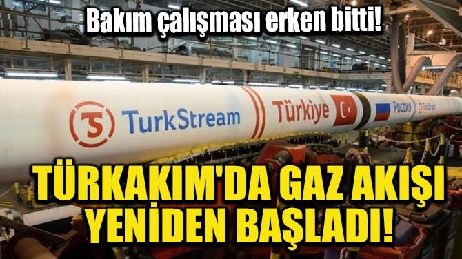 TÜRKAKIM'DA GAZ AKIŞI YENİDEN BAŞLADI!