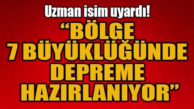 """UZMAN İSİM UYARDI! """"BÖLGE 7 BÜYÜKLÜĞÜNDE DEPREME HAZIRLANIYOR"""""""