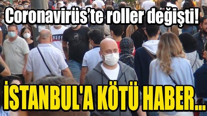 CORONAVİRÜS'TE ROLLER DEĞİŞTİ! İSTANBUL'A KÖTÜ HABER...