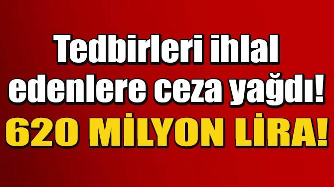 İSTANBUL'DA 31 BİNDEN FAZLA KİŞİYE 620 MİLYON LİRA CEZA!
