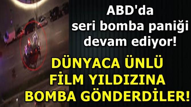 DÜNYACA ÜNLÜ FİLM YILDIZINA BOMBA GÖNDERDİLER!