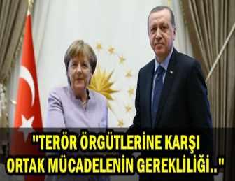 CUMHURBAŞKANI ERDOĞAN,ALMANYA BAŞBAKANI MERKEL İLE GÖRÜŞTÜ!..
