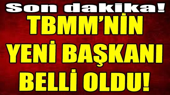 TBMM'NİN YENİ BAŞKANI BELLİ OLDU!