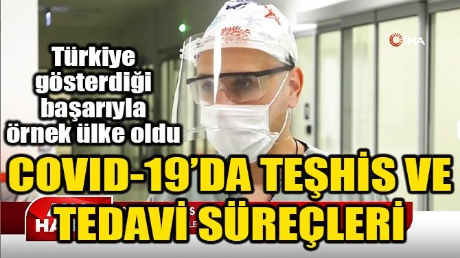 COVID-19'DA TEŞHİS VE TEDAVİ SÜREÇLERİ!