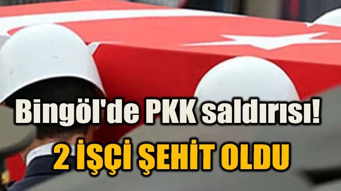 BİNGÖL'DE PKK SALDIRISI! 2 İŞÇİ ŞEHİT OLDU