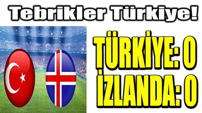 TÜRKİYE, İZLANDA KARŞISINDA!