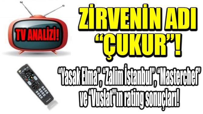 """RATINGLER BELLİ OLDU! ZİRVENİN ADI  """"ÇUKUR""""!"""