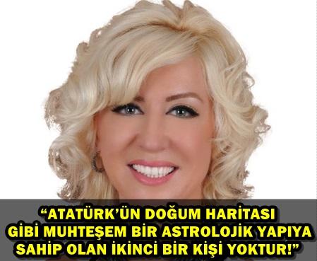 ASTROLOG ŞENAY YANGEL'DEN ATATÜRK'ÜN DOĞUM HARİTASI ANALİZİ...