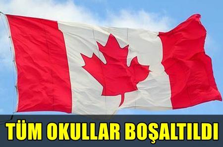 KANADA'DA BOMBA PANİĞİ!.. OKULLAR TAHLİYE EDİLDİ!..