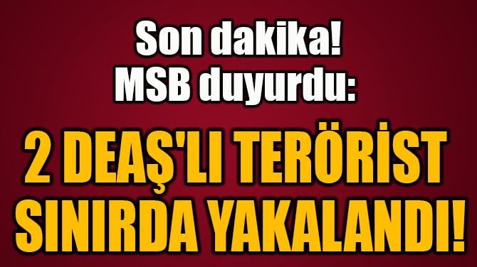 2 DEAŞ'LI TERÖRİST  SINIRDA YAKALANDI!