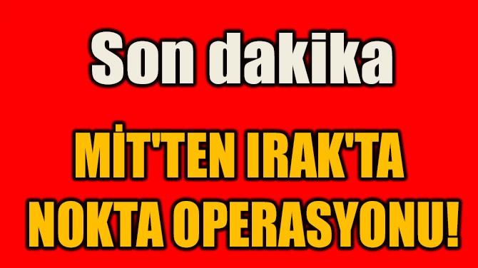 MİT'TEN IRAK'TA  NOKTA OPERASYONU!