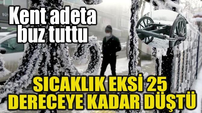 ŞEHİR ADETA BUZ TUTTU! SICAKLIK EKSİ 25 DERECEYE KADAR DÜŞTÜ!..