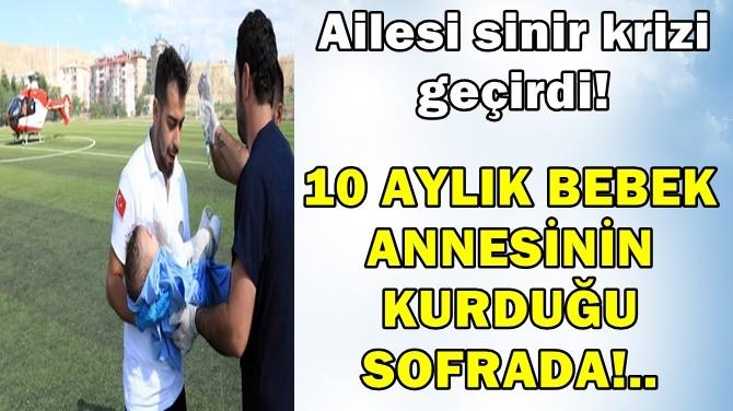 10 AYLIK BEBEK ANNESİNİN KURDUĞU SOFRADA!..