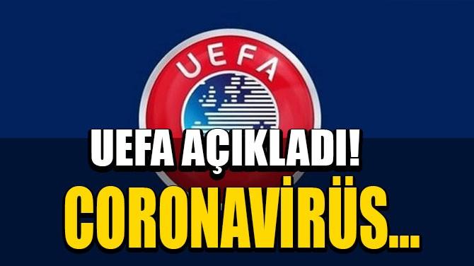 UEFA AÇIKLADI! CORONAVİRÜS...