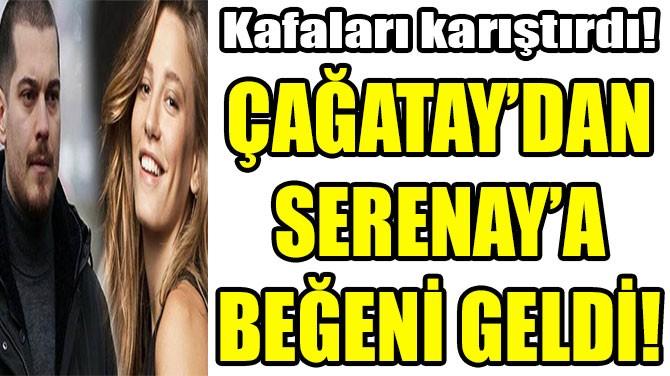 ÇAĞATAY'DAN SERENAY'A BEĞENİ GELDİ!
