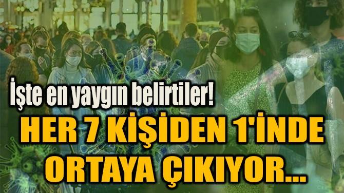 HER 7 KİŞİDEN 1'İNDE ORTAYA ÇIKIYOR...