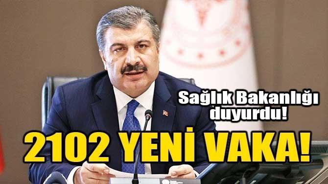 2102 YENİ VAKA!