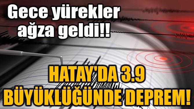 HATAY'DA 3,9 BÜYÜKLÜĞÜNDE DEPREM!