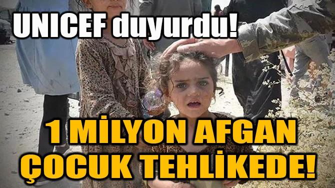 1 MİLYON AFGAN ÇOCUK TEHLİKEDE!