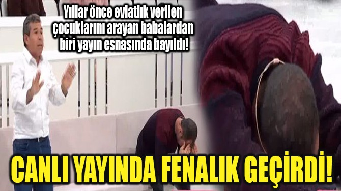 CANLI YAYINDA FENALIK GEÇİRDİ!