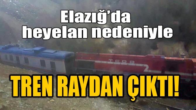 ELAZIĞ'DA HEYELAN NEDENİYLE TREN RAYDAN ÇIKTI!