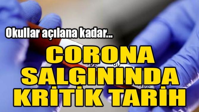 CORONA SALGININDA KRİTİK TARİH!