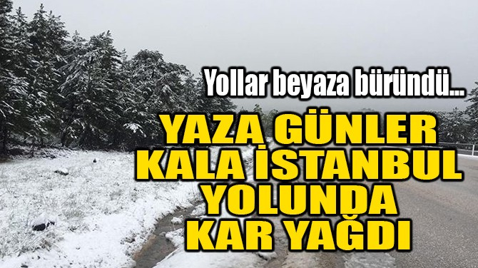 YAZA GÜNLER KARA İSTANBUL'YOLUNDA KAR YAĞDI!