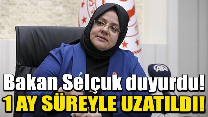 KISA ÇALIŞMA ÖDENEĞİ 1 AY SÜREYLE UZATILDI!